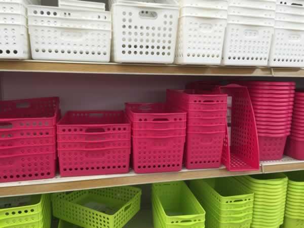 プラスチック収納ボックスのカラーバリエーション